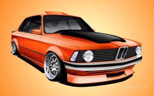 Bmw E21 LS1 Concept by dazza-mate