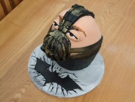 The Dark knight Rises: Bane Cake by superspy6