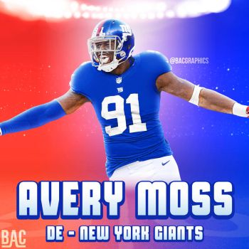 Avery Moss New York Giants Jersey Swap by BacGraphics