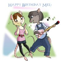 Birthday Banjo Serenade by shani-hyena