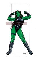 SHE-HULK SHOWS OFF by Dwid