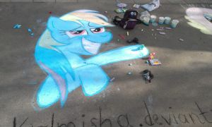 Rainbow Dash (chalk) [drunkard] by krlmisha