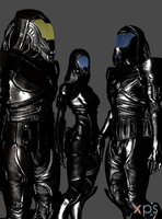 New Quarian Admirals by anorexianevrosa