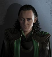 Portrait of Loki by eleathyra