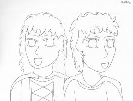 SketchADay - Witch's Twins by Phoneix-Faerie