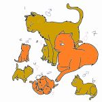Adoptables: cat family free and open by taytay1012365