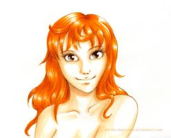 Nami -New world- portrait by Noriko-Sugawara
