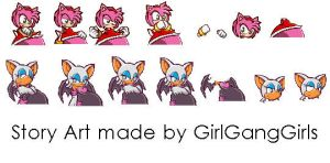 Rouge and Amy Story art by GirlsGangsGirls