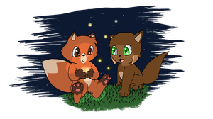 Sly And Chaos fireflies by Chaos55t