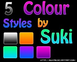 5 Colour Styles pack by Suki95