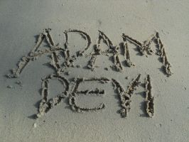 nAmE in thE sAnd by ArtOfAdAm