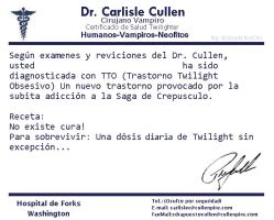Certificado de Salud TWILIGHT by RoohEditions