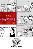 Trolling my bro -Rage Comic- by Albowtross91
