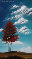 Red Tree 6x9-5 by LeahGarcia