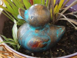 Antique Rubber Duck by Caitiekabob