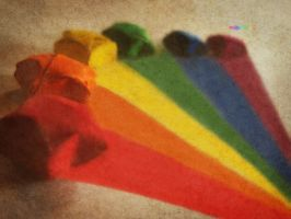 Origami Rainbow by freestyle-1love