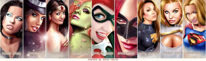 DC WOMEN - FACES by J-Estacado