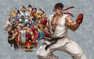 SFIII OE - Ryu - Wallpaper V2 by iFab