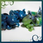 Tiny Cute Octopus Gauges by lily-inabottle