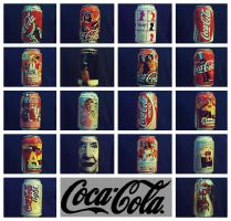 coca cola can collection by jaba