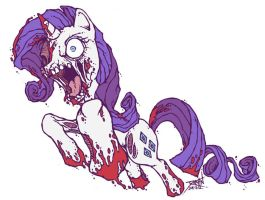 My Little Zombie - Rarity by GenghisKrahn