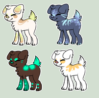 Dog Adoptables #1 by Fluff-puff