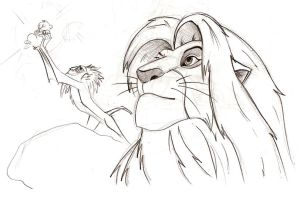 Lion King sketch test1 by Malici0us