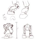 Buddy Bot drawings by dotcommer