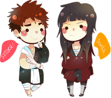 AsuSato Chibi's by MooseFroos by Riehimee