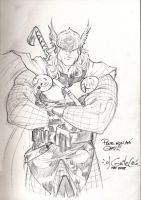 Thor sketch - May 17th 2008 by SpiderGuile