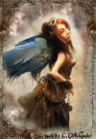 Steampunk Angel by cdlitestudio