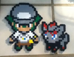 Zorua and N Perler Beads by hannah5007
