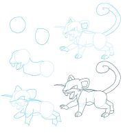 Rattata tutorial 1 by Blue-Uncia