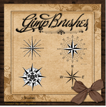 GIMP Brushes | Compass Rose Brushes II by TheAngeldove