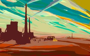 factory, dawn by BrumaGris
