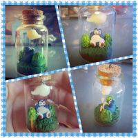 Snorlax in a Bottle Necklace by Faye-Fox