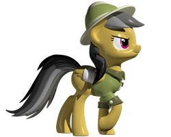 Daring Do 3D Model by Clawed-Nyasu