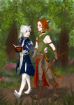 Alphinaud and Skaia by luinquesse