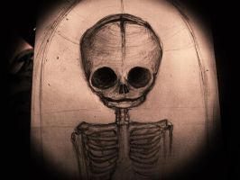 fetal skull by secretevils