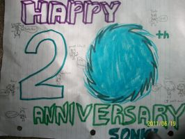 Happy 20th Sonic by BladerGirl101