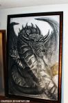 DRAGON with 5x3.5 feet custom frame by EdArtGeek