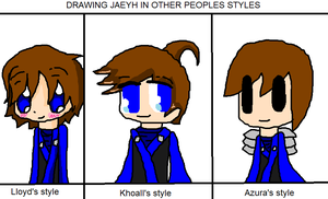 Jaeyh in different styles by Ask-Jaeyh-Garmadon