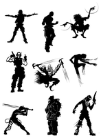 Sketch: Silhouettes by Chuck-Nothing