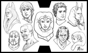 Star Wars Portrait Sketches by artbytravis