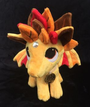 Custom Pendragon Plush Autumn Leaves Dragon by angelberries
