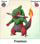 Fraxure + Charmeleon Fusion by Twime777