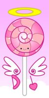 kawaii valentine's day lollipop by to-much-a-thing