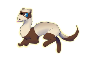 Ferret by TheEpicWingedWolf