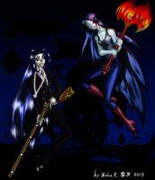 Battle of the long hired Vampire Babes! by Yasha-K