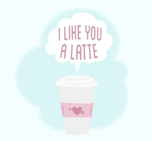 i like you a latte by d00mbunny